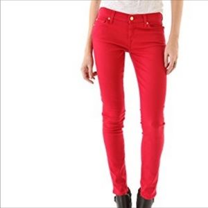 7 for all man kind skinny red jeans